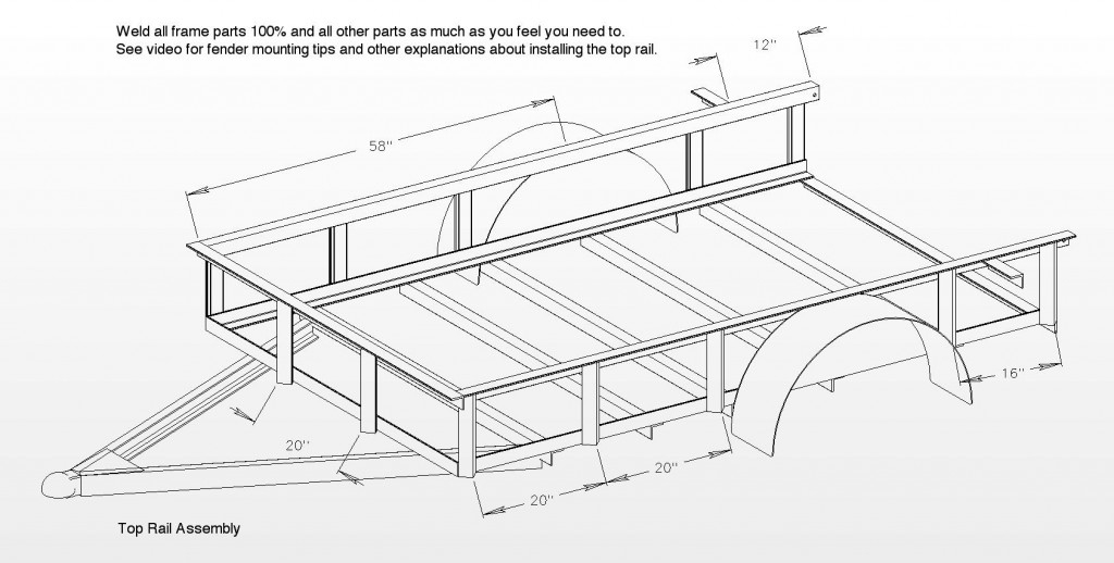 Utility trailer plans archives free utility trailer plans for Free trailer plans